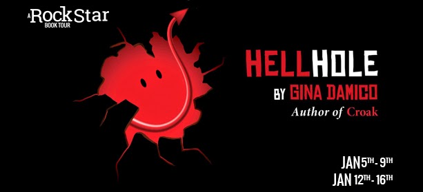 Giveaway Interview HELLHOLE by GINA DAMICO #Review @ginadamico @HMHKids @rockstarbktour 1.21
