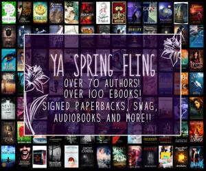 spring fling banner . books