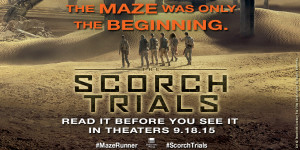 Read it before you see it! #Giveaway SCORCH TRIALS by @jamesdashner @randomhousekids