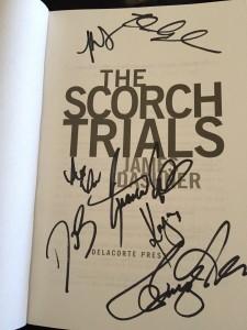 scorch trials sign book