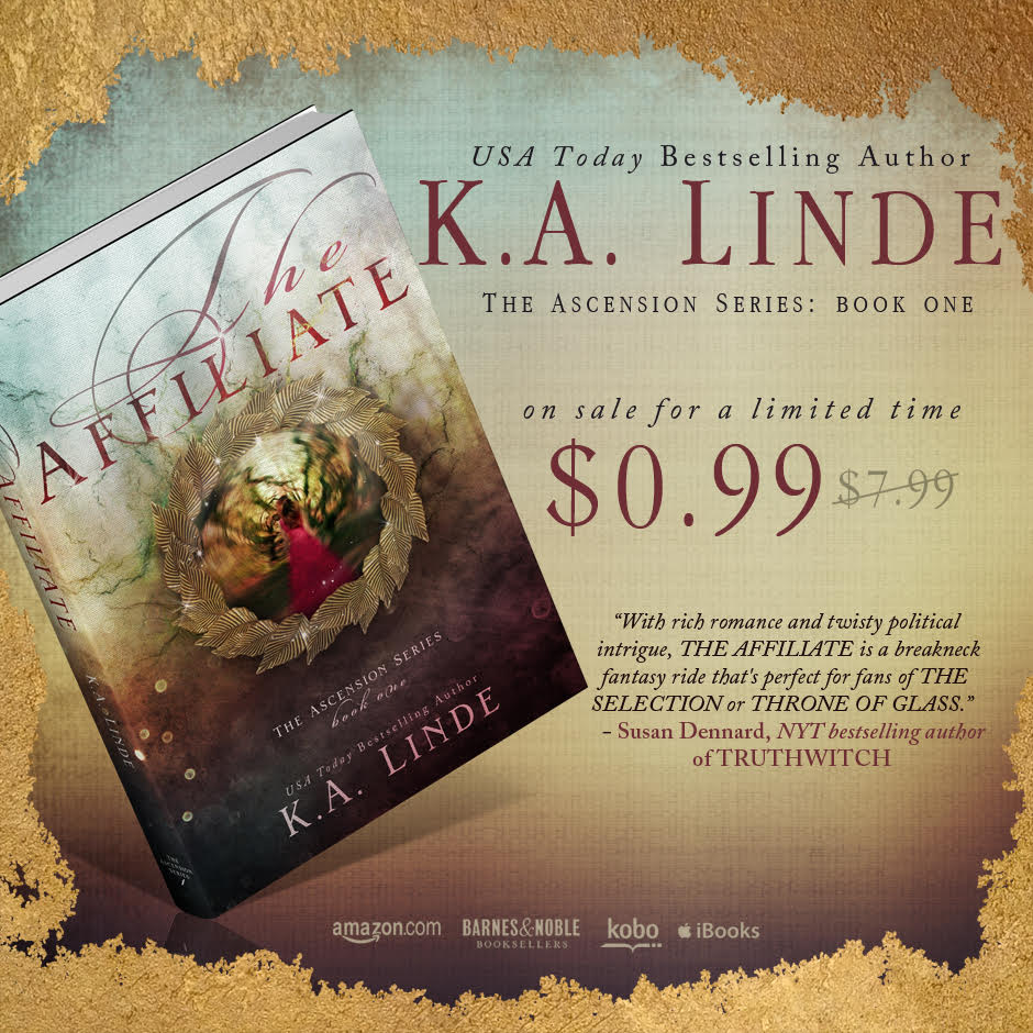 #Giveaway Sale THE AFFILIATE by K A LINDE  2.24