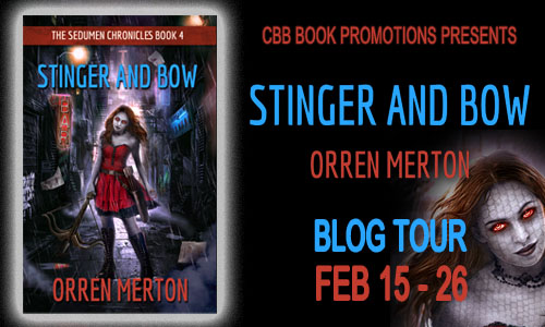 $25 #Giveaway Interview Stinger and Bow by Orren Merton @orrenmerton 3.2