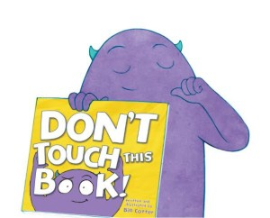 don't touch this book banner 2