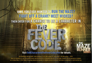 Be A Character in THE FEVER CODE by James Dashner Sweepstakes!  @RandomHouseKids