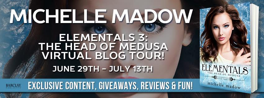 #Giveaway Elementals 3: The Head of Medusa by Michelle Madow @MichelleMadow