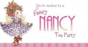 fancy nancy tea party invite