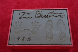 "A view of the Tim Burton Hand & Footprint Ceremony presented by 20th Century Fox in celebration of his newest film ""Miss Peregrine's Home for Peculiar Children"" at the TCL Chinese Theatre in Los Angeles, CA on September 8, 2016. (Photo: Alex J. Berliner/ABImages)"