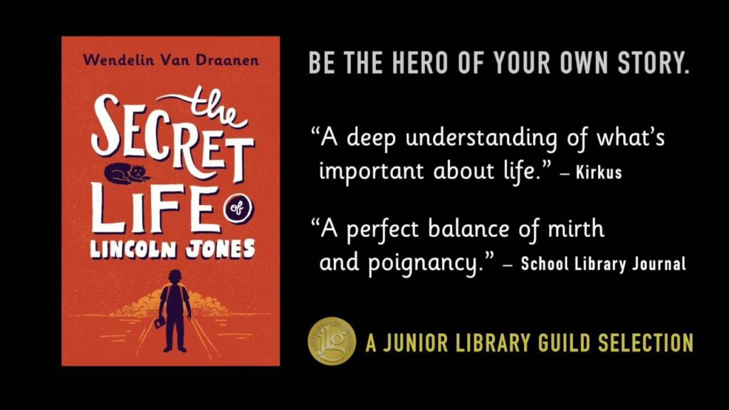#Giveaway Review The Secret Life of Lincoln Jones by Wendelin Van Draanen @WendelinVanD @KnopfBFYR