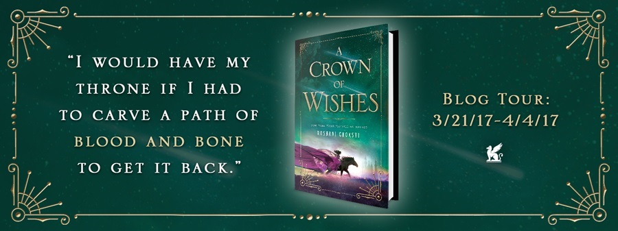 Review A CROWN OF WISHES by Roshani Chokshi @NotRashKnee @GriffinTeen #AUDIO
