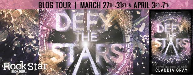 1 winner will receive a signed finished copy of DEFY THE STARS, US Only