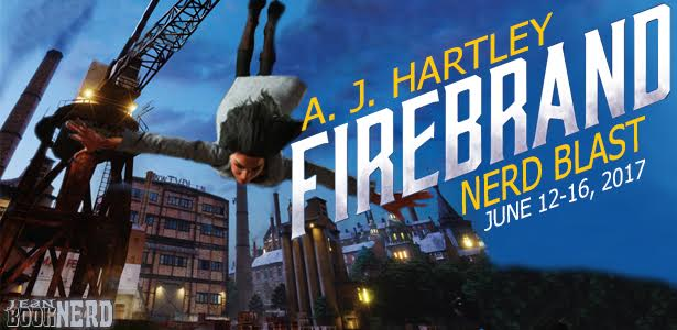 1 Winner will receive a Set Copy of the Alternative Detective Series, Steeplejack and Firebrand by A.J. Hartley.
