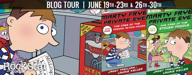 3 Winners will receive a finished copy of MARTY FRYE PRIVATE EYE & THE CASE OF THE MISSING ACTION FIGURE and MARTY FRYE PRIVATE EYE AND THE CASE OF THE STOLEN POODLE, US Only.