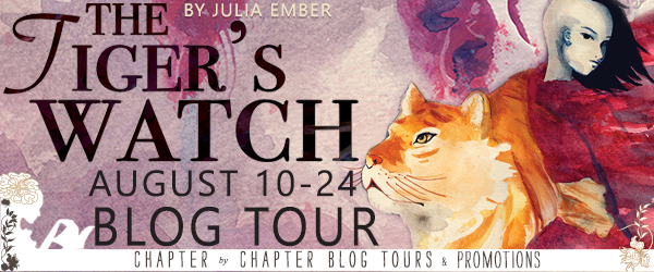 Two (2) winners will receive a signed paperback of The Tiger's Watch by Julia Embers (INT)