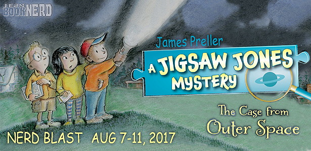 - 3 Winners will receive a Copy of JIGSAW JONES: THE CASE FROM OUTER SPACEby James Preller