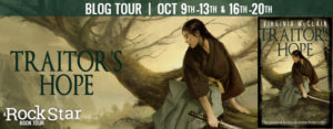 #Giveaway Interview TRAITOR'S HOPE by Virginia McClain @gwendamned 10.23